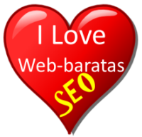 Corazon I Love. Diseño paginas web y SEO web-baratas.com