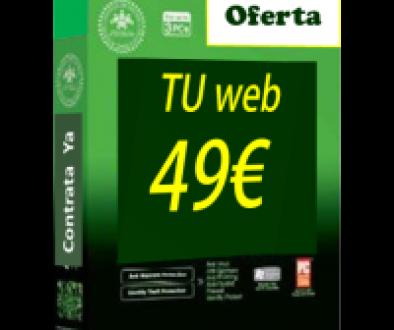 Una pagina web barata online por 49€. Paginas web baratas.