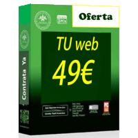 Tu web online. Paginas web baratas por 49 euros.