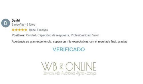 Oferta diseño paginas web reseñas